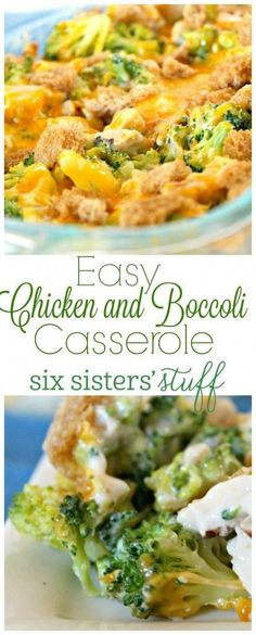 Quick and Easy chicken and broccoli casserole recipe from SixSistersStuff.com