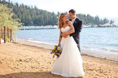 Dreaming of a wedding on the beach? Skip the tropical island and choose Zephyr Cove Resort in beautiful South Lake Tahoe! Turn your dream wedding into a reality and choose South Lake Tahoe for your destination wedding. #destinationwedding #beachwedding www.tahoeweddingsites.com