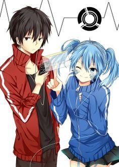 Ene & Shintaro | Mekakucity Actors #anime