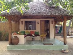 Bamboo House Design, Tropical House Design, Tropical Beach Houses, Village House Design, Village Houses, Dream Home Design, Tiny House Design, Hut House, African House