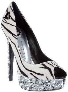 Philipp Plein Zebra Print Shoe