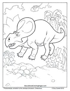 Protoceratops Coloring Dinosaur Pages