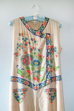 RESERVED 1930s Beach Pajamas / 30s Silk by GuermantesVintage