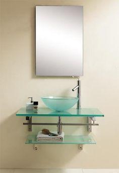 Dreamline Glass Vanity DLVG-1002 - #bathroom vanities and sink consoles
