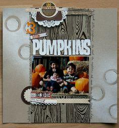 3 little pumpkins- fall layout