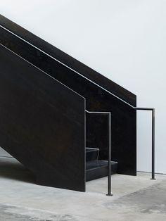 Stairs - black steel - Jet City Winery by Olson Kundig