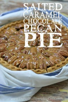 Got pie? This rich and decadent Salted Caramel Chocolate Pecan Pie is sure to satisfy every craving you've got this year. A showstopper in every way, it comes together surprisingly fast! Yum!