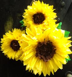 Sunflower Tissue Paper Diy Diycrafts Paper Flowers Giant Paper