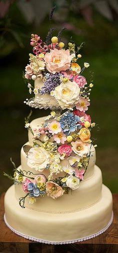 Tartas de boda - Wedding Cake - Wild flower wedding cake