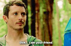 """""""Dirk... I am your friend.""""- Dirk Gently's Holistic Detective Agency """"Very Erectus"""" (1x05) 