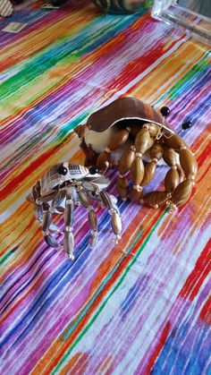 small hermit crab beaded sculpture by theartofbird on Etsy