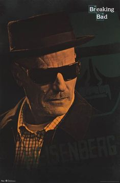 """A great poster of Walter White's alter-ego """"Heisenberg"""" from TV's award-winning drama Breaking Bad. Bryan Cranston has never been better! Fully licensed. Ships fast. 22x34 inches. Check out the rest o"""