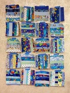 This is what happens when you're fearless! Great little string blocks will become a wonderful scrappy quilt in due time.