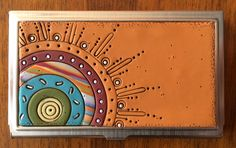 IMG_0726   polymer decorated business/credit card holder   Bull's Eye Studio   Flickr Glass Painting Patterns, Business Credit Cards, Inspirational Artwork, Mural Art, Business Card Holders, Card Tags, Clay Projects, Wall Sculptures, Mosaic Art