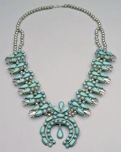 zuni squash bottom necklace