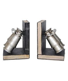 Look what I found on #zulily! Silver Binocular Bookend - Set of Two #zulilyfinds
