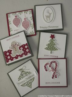 Gift Cards using Scentsational Season, Ornament Keepsakes and Joyous Celebrations stamp sets - Tracey's Papercraft Creations