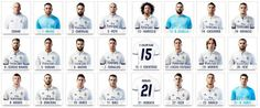 Camisetas de jugadores del Real Madrid Club de Fútbol 2016/17