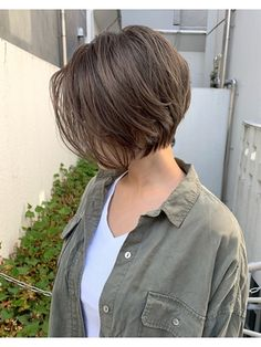 Short Hair Syles, Short Hair Cuts, Short Hair Hacks, Tomboy Hairstyles, Hairstyles Haircuts, Hair Color And Cut, Cut My Hair, Korean Short Hair, Japanese Short Hair