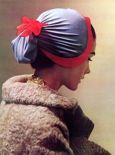 Hat by Gerard Albouy (Millinery), L'Officiel, 1954