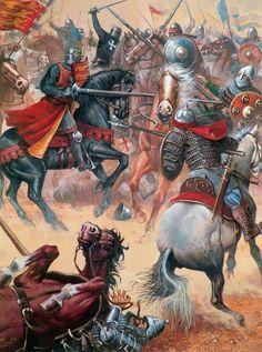 """Richard the Lionheart, Battle of Arsuf, 1191"" Justo Jimeno Bazaga."