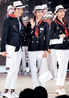 64 years ago...Korea participated in the 1948 London Olympics. It was the first time that we attended Olympics with the name of a country, 'the Republic of Korea',  after the 1945 Liberation. Now, London 2012 again! The concept of uniform is 'Honoring the 1948 Olympics'. :') It's been selected as the best looking uniforms on TIME!