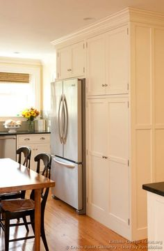 #Kitchen Idea of the Day: Classic White Kitchens. (By Crown Point Cabinetry)