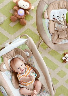 Cozy seats for playtime and naptime.