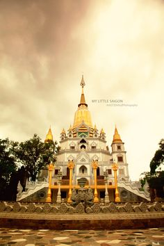 Temple in Saigon, Vietnam
