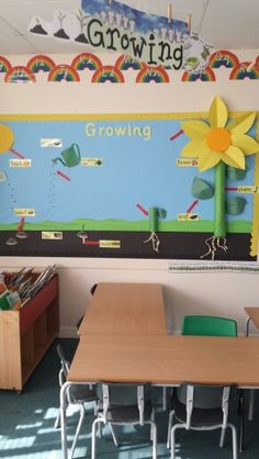 Growing display Ks1 Classroom, Classroom Displays, Classroom Ideas, Teaching Materials, Teaching Ideas, School Fun, School Ideas, Artwork Display, Toy Chest