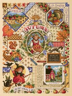 On my wishlist-autumn, soon.... One of four seasonal samplers by Sandy Orton of Kooler Design Studio