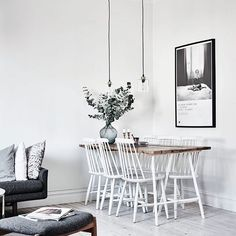 Scandinavian Living Room Designs I am not absolutely sure if you have noticed of a Scandinavian interior design. Dining Room Inspiration, Interior Inspiration, Furniture Inspiration, Interior Ideas, Comedor Office, Room Interior, Interior Design, Nordic Interior, Modern Interior