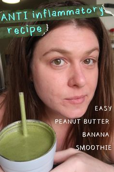 #AllergicToEverything anti inflammatory smoothie recipe - easy peanut butter banana smoothie!