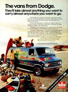 0638274b61 Dodge Van ads of the the beach and good times