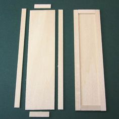 Use simple hand tools to build a basic dolls house scale cupboard or armoire with opening doors.: Cut the Parts For the Dollhouse Armoire or Cupboard Doors