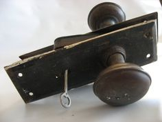 Vintage Door Knob Complete With Lock And Key by SycamoreVintage, $29.00