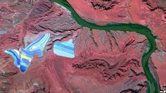 3/9/2014 Settling ponds of Intrepid Potash mine Moab, Utah 38°29'0.16″N 109°40'52.80″W