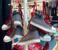 Shoefetti as Formal Display Detail High Top Vans, High Tops, High Top Sneakers, Vans Sk8, Retail, Display, Formal, Shoes, Fashion