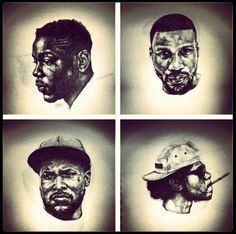 Black Hippy Crew Ab-Soul Jay Rock Schoolboy Q Kendrick Lamar Rapper Delight, Black Hippy, Good Raps, Schoolboy Q, Jay Rock, Up Music, Best Rapper, Kendrick Lamar, Types Of Music