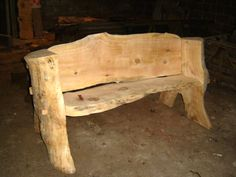 rustic wood benches | Wooden Bench
