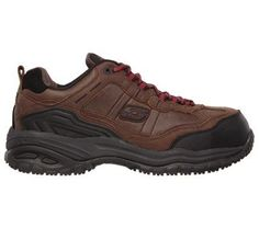 Skechers Work Men's Soft Stride Constructor II Composite Toe Work Sneakers (Brown Leather) - 11.0 M
