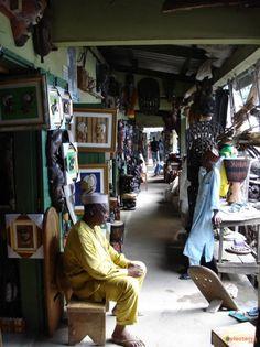 Marché artisalal de Douala, Cameroun