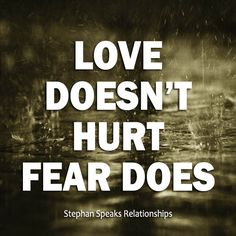 Don't confuse the two. Genuine love is never a bad thing - www.StephanSpeaks.com