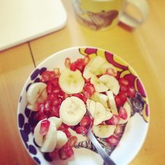 sophie_carre's photo on Instagram bananas and grenade salad in the morning