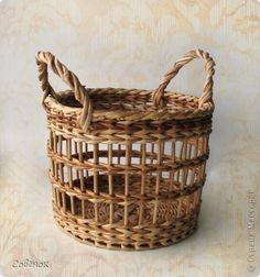 Поделка изделие Плетение Кленовое дубовое решетчатое  Трубочки бумажные фото 11