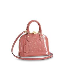 Alma BB Monogram Vernis Leather in Women's Handbags collections by Louis Vuitton Fashion Handbags, Purses And Handbags, Fashion Bags, Pink Purses, Chanel Handbags, Fashion Fashion, Runway Fashion, Fashion Trends, Louis Vuitton Alma Bag