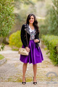 Falda midi - Crimenes de la Moda - Midi Skirt - Cazadora Zara biker jacket
