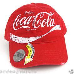 Coca Cola Vintage Baseball Cap Hat with Glass Bottle Opener Coca Cola Zero 6ddaf635e170