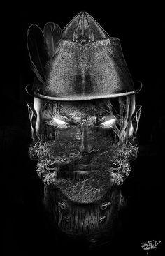 Fantasmagorik Robin Wood        FreeStyle digital artwork by French artist Obery Nicolas