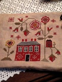 Bookwoman Stitches - Red Cotttage by Plum Street Samplers